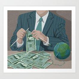 Making Money Art Print