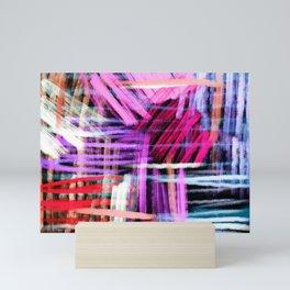 oil pastels abstract pattern Mini Art Print