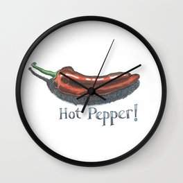 Hot Pepper! Wall Clock