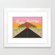 GREETINGS FROM PALM SPRINGS Framed Art Print