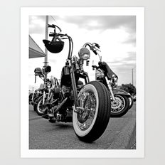 Roadside chopper Art Print