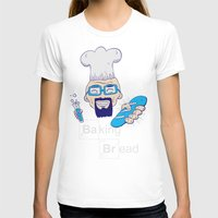 baking T-shirts featuring Baking Bread by DarkChoocoolat