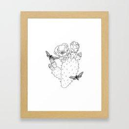 Cactus Cicada Framed Art Print