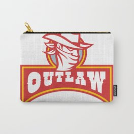 Bandit With Outlaw Text Retro Carry-All Pouch