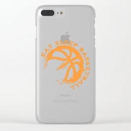 Eat Sleep Basketball Clear iPhone Case
