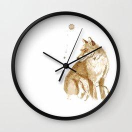 Coffee Fox Wall Clock
