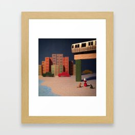 The Summer Cats & The Smith and 9th Street Stop Framed Art Print