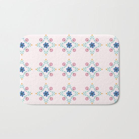 Floral Pattern #3 Bath Mat