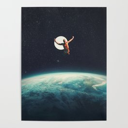Returning to Earth with a will to Change Poster