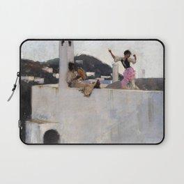 12,000pixel-500dpi - John Singer Sargent - Capri Girl on a Rooftop - Digital Remastered Edition Laptop Sleeve