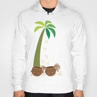 coconut wishes Hoodies featuring Coconut Twins by HK Chik