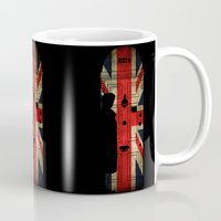 221b Mugs featuring Sherlock Holmes door 221b by BomDesignz