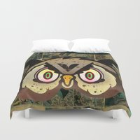 howl Duvet Covers featuring Owl Howl by Beery Method