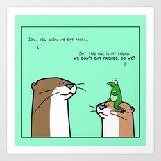 Save the frog Art Print