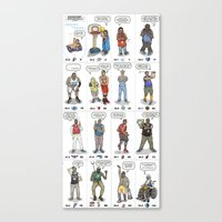 nba Canvas Prints featuring NBA Ageisms by Bouncex3