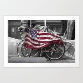 Venice Beach USA Flag Art Print