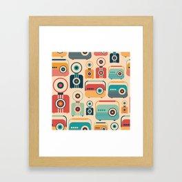Retro Cameras and Radios Framed Art Print