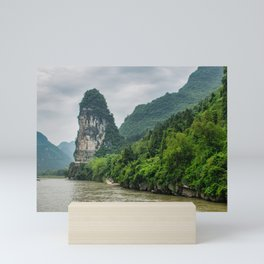 Karst formation on the Li River Guilin, China Mini Art Print