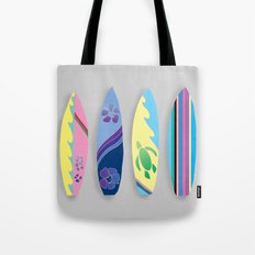 Four Surfboards Tote Bag