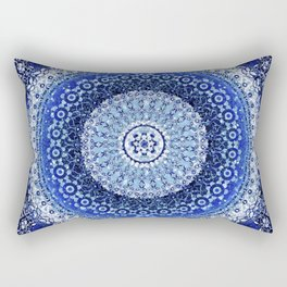Cobalt Tapestry Mandala Rectangular Pillow