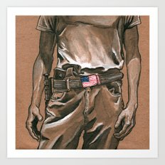 Border Patrol Art Print
