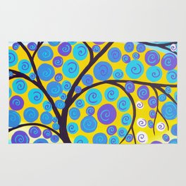Aqua Tree of Life Rug