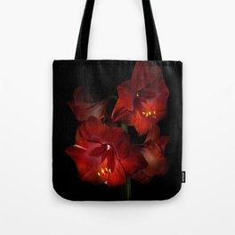 Scarlet Amaryllis Tote Bag