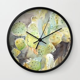 Arizona Cacti Botanical Garden Wall Clock