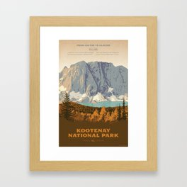 Kootenay National Park Framed Art Print