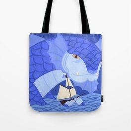 A Friendly Sea Monster Tote Bag