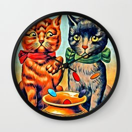 Tiddledy Winks Vintage Cats Wall Clock