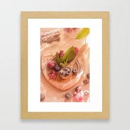 Fresh wild Bernies  Fruits Still life Framed Art Print