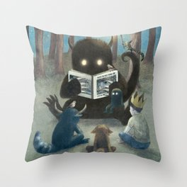 Reading Circle (option) Throw Pillow