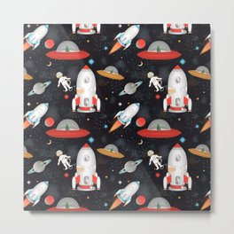 Spaceships Metal Print