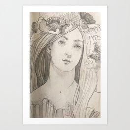 Shady lady 2 Art Print