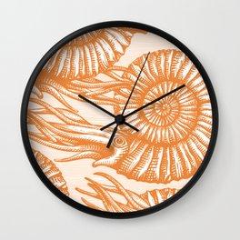 AMMONITE COLLECTION ORANGE Wall Clock