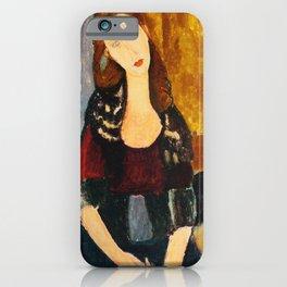 "Amedeo Modigliani ""Jeanne Hebuterne, seated"" iPhone Case"