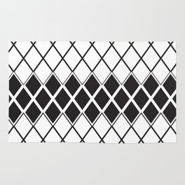 Rombs Black and white pattern Rug