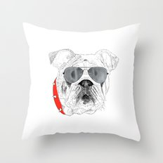 BallDog Throw Pillow