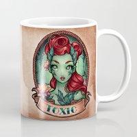 pinup Mugs featuring TOXIC pinup by Tim Shumate