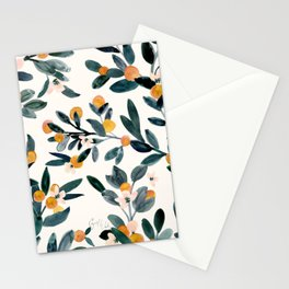 Clementine Sprigs Stationery Cards