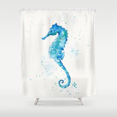 Sailing Along (Seahorse) Shower Curtain