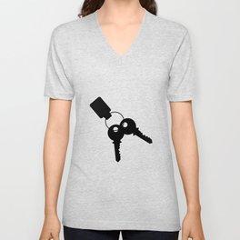 Keys And Fob Unisex V-Neck