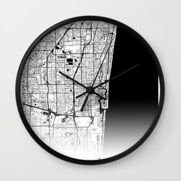 City Neck Gaiter Fort Lauderdale Florida Map Neck Gator Wall Clock