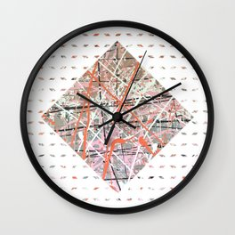 Flight of Color - diamond graphic Wall Clock