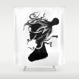 Squindy Silhouette Shower Curtain