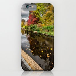 Canal Path Autumn iPhone Case