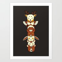 totem Art Prints featuring Totem by Freeminds