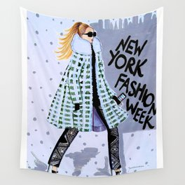 NEW YORK FAHION WEEK ILLUSTRATION BY JAMES THOMAS RYAN Wall Tapestry