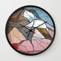 rocky Wall Clocks featuring Rocky by Tonya Doughty